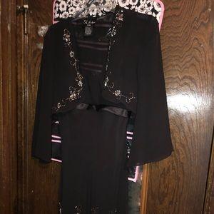 Black embellished dress